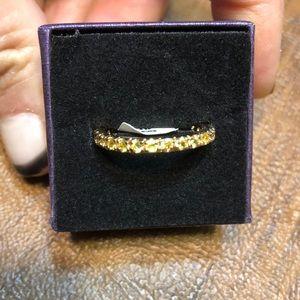 Yellow Topaz Eternity Ring